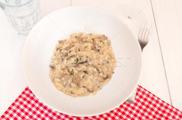 Risotto With Mushrooms Stock photo © jamdesign