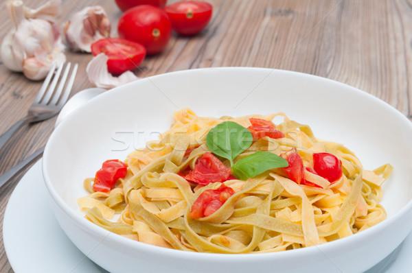 Pasta aglio pomodori pomodoro cottura pranzo Foto d'archivio © jamdesign