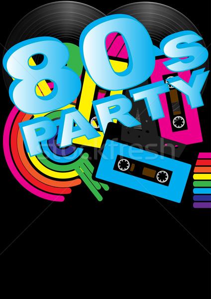 Retro muziek abstract vintage vinyl records Stockfoto © jamdesign