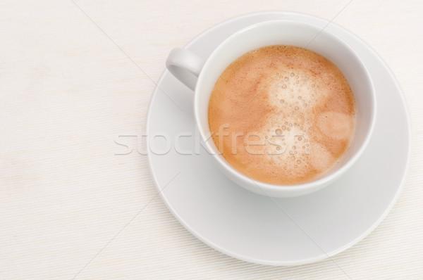 Espresso Kaffee weiß Tasse Licht Tischdecke Stock foto © jamdesign