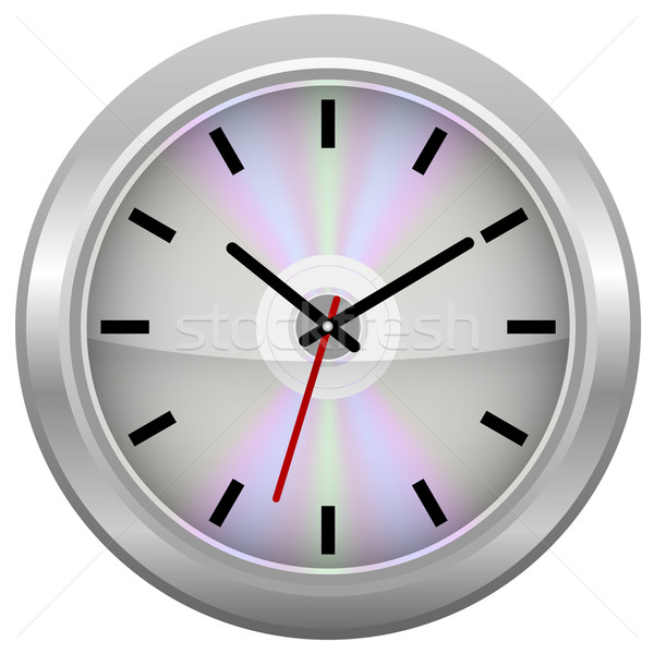 Silver CD / Wall Clock Stock photo © jamdesign