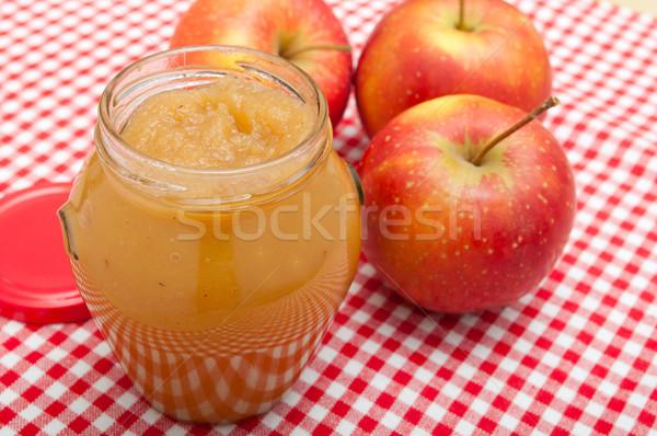 Manzana atasco jar manzanas rojo alimentos Foto stock © jamdesign