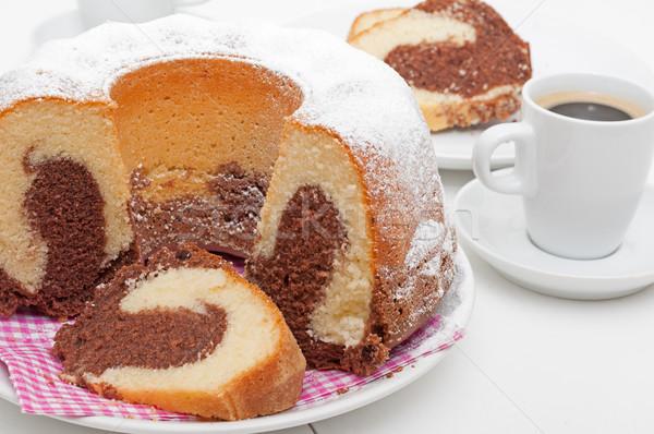 Gugelhupf Round Cake and Espresso Coffee Stock photo © jamdesign