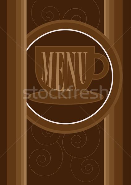 Menu Card Design Stock photo © jamdesign