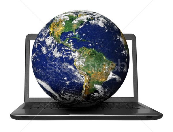 Cuaderno planeta tierra moderna aislado blanco elementos Foto stock © jamdesign