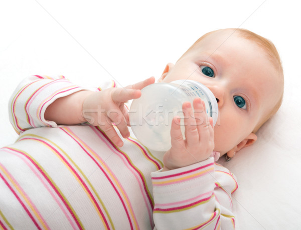 Eating Baby Girl Stock photo © jamdesign
