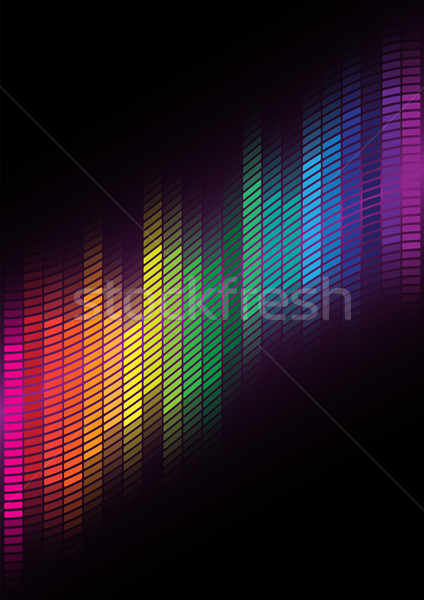 Stock photo: Abstract Background - Multicolor Equalizer