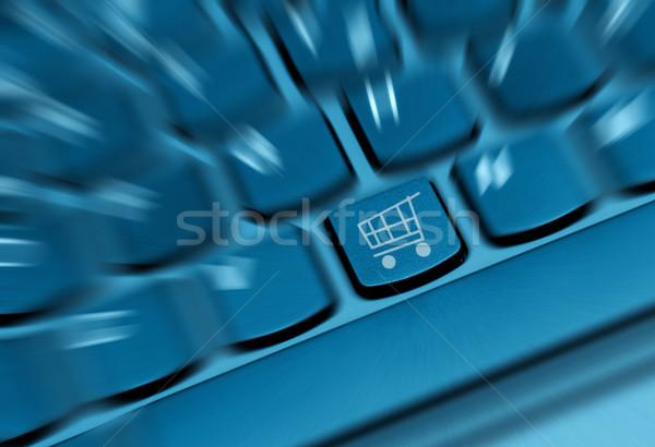 Detail Schlüssel Warenkorb Symbol Tastatur Stock foto © jamdesign