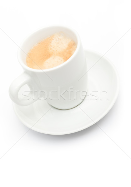 Cup espresso caffè bianco poco profondo Foto d'archivio © jamdesign