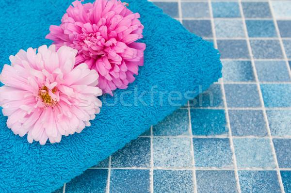 Flowers in Bathroom Stock photo © jamdesign