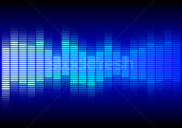 Abstract Background  - Blue Equalizer Stock photo © jamdesign