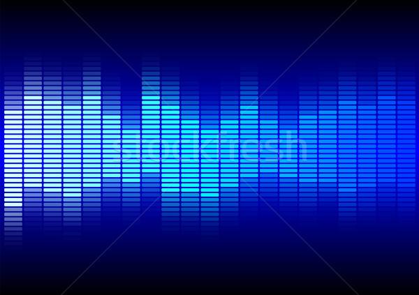 аннотация синий эквалайзер черный Dance фон Сток-фото © jamdesign