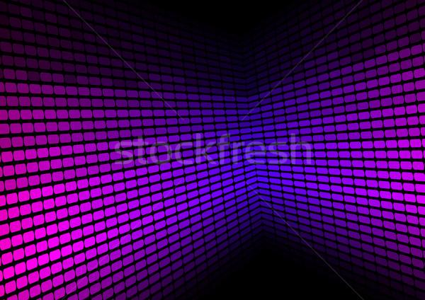 Abstrato violeta equalizador preto tecnologia fundo Foto stock © jamdesign