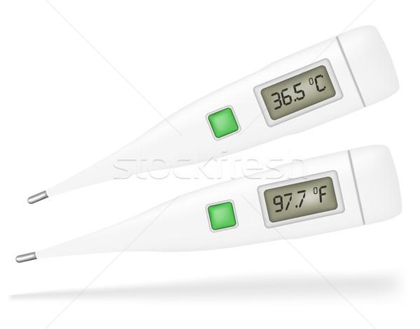 Termômetro ilustração isolado branco médico instrumento Foto stock © jamdesign