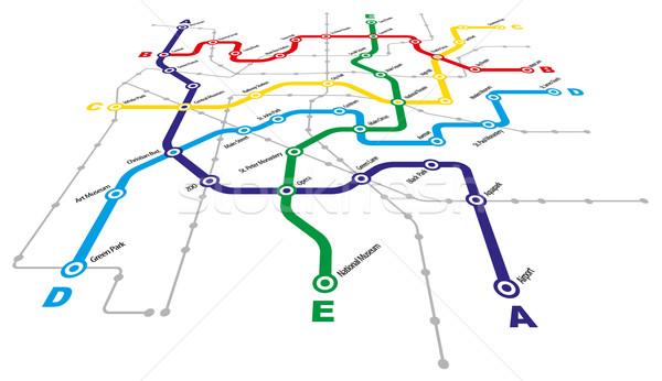 şehir toplu taşıma arka plan seyahat otobüs grafik Stok fotoğraf © jamdesign