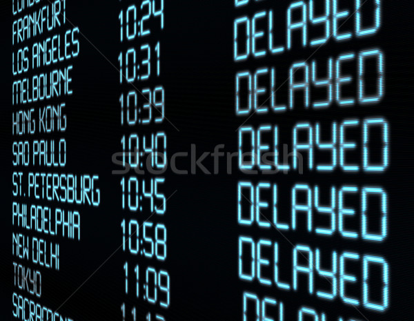 Stock photo: Departure Timetable
