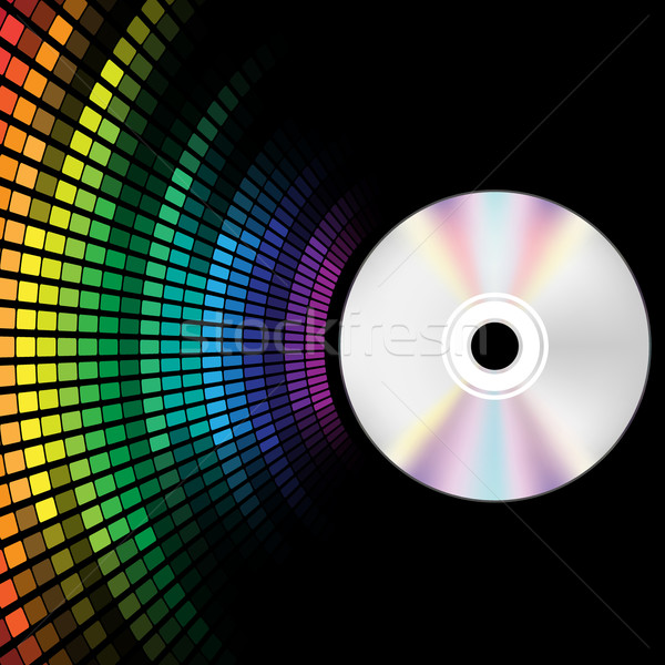Stock photo: Compact Disc and Equalizer
