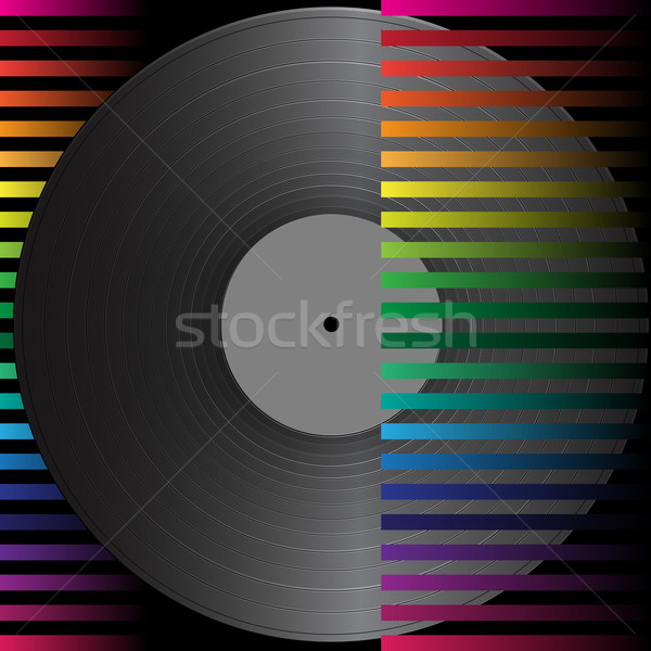 Partij abstract vintage vinyl record achtergrond Stockfoto © jamdesign