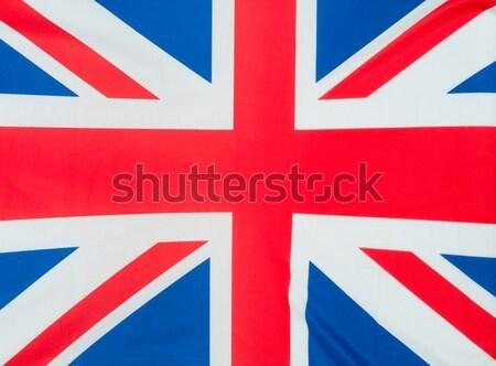 Groot-brittannië vlag achtergrond Blauw golf zijde Stockfoto © jamdesign