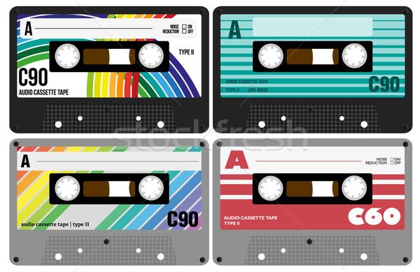 Audio Cassette Tapes Stock photo © jamdesign