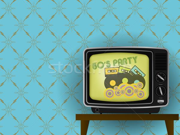 Retro tv Stock photo © jamdesign