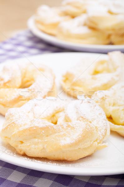 Homemade Cream Puffs Stock photo © jamdesign