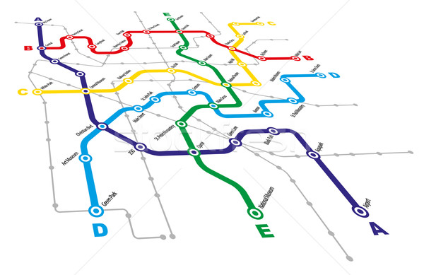 Cidade transporte público fundo viajar ônibus gráfico Foto stock © jamdesign