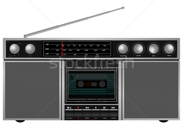 Retro Stereo Player Stock photo © jamdesign