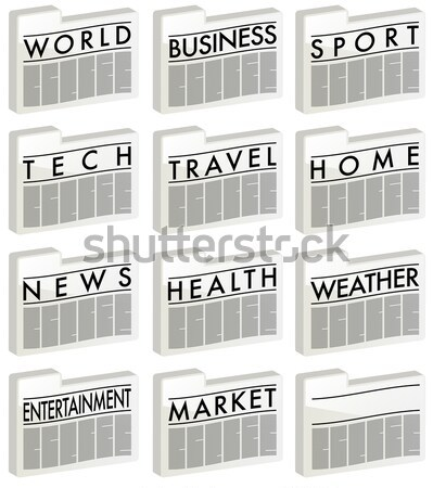 Newspapers Icons Stock photo © jamdesign