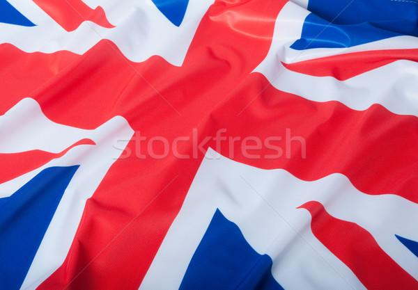 Banderą wielka brytania szczegół jedwabisty tle niebieski Zdjęcia stock © jamdesign