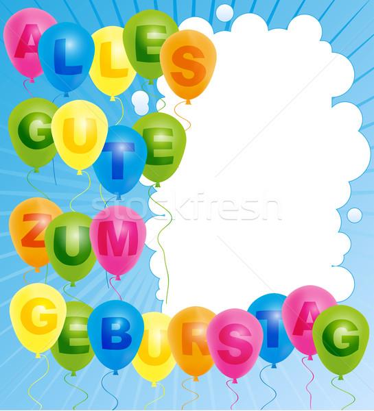 Happy Birthday Card - German Stock photo © jamdesign