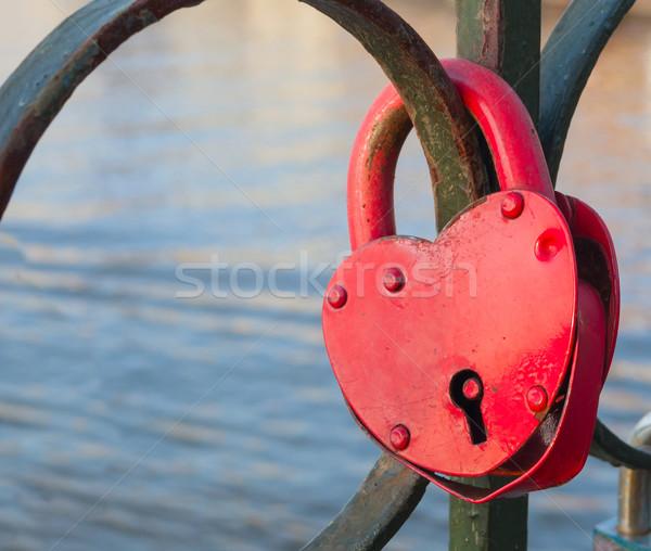 Heart shaped padloc Stock photo © jamdesign
