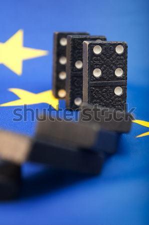 Domino effect financiële crisis Europa europese unie Stockfoto © jamdesign
