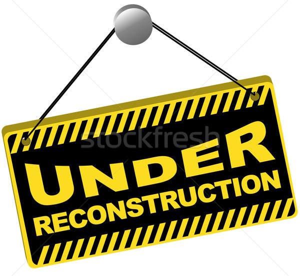 Reconstrução assinar ícone web isolado branco computador Foto stock © jamdesign