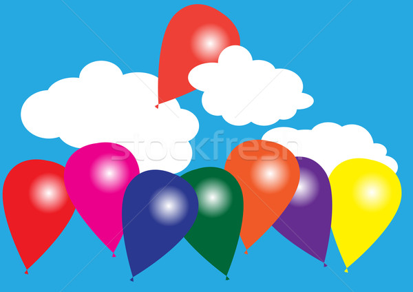 Balloons on Blue Sky Stock photo © jamdesign