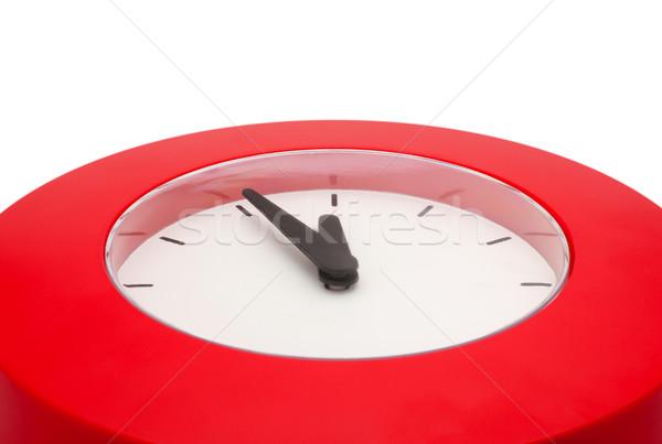 Beş gece yarısı detay kırmızı duvar saat Stok fotoğraf © jamdesign