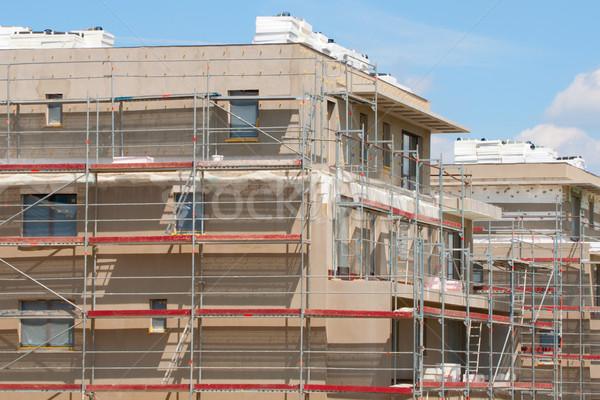 Casas nuevos familia construcción ciudad casa Foto stock © jamdesign
