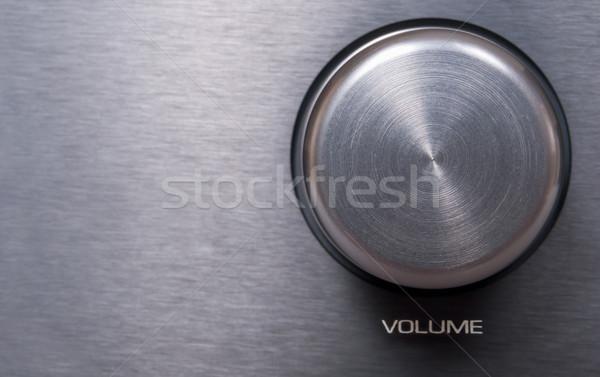 Hangerő fogantyú részlet fémes fém rádió Stock fotó © jamdesign