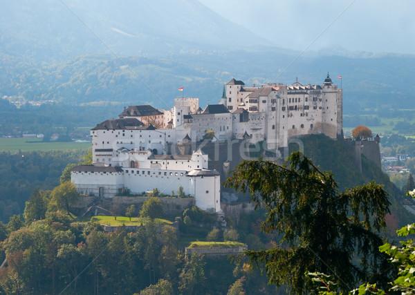 Österreich Festung Herbst Burg Stock foto © jamdesign