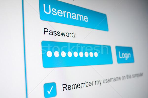 Login caixa nome de usuário senha internet navegador Foto stock © jamdesign