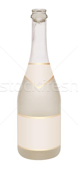 Flasche Champagner leer isoliert weiß Stock foto © jamdesign