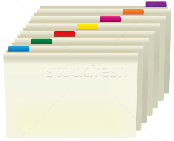 Manila Folders Stock photo © jamdesign