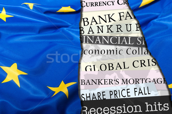 Financial Crisis in Europe Stock photo © jamdesign