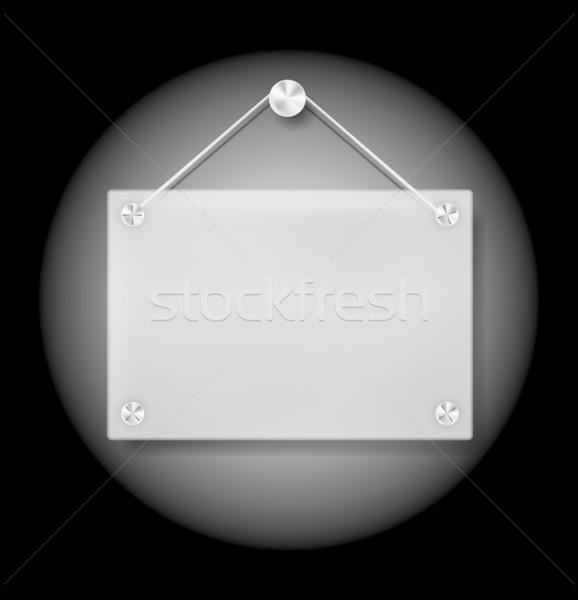 Plexi Signboard Stock photo © jamdesign