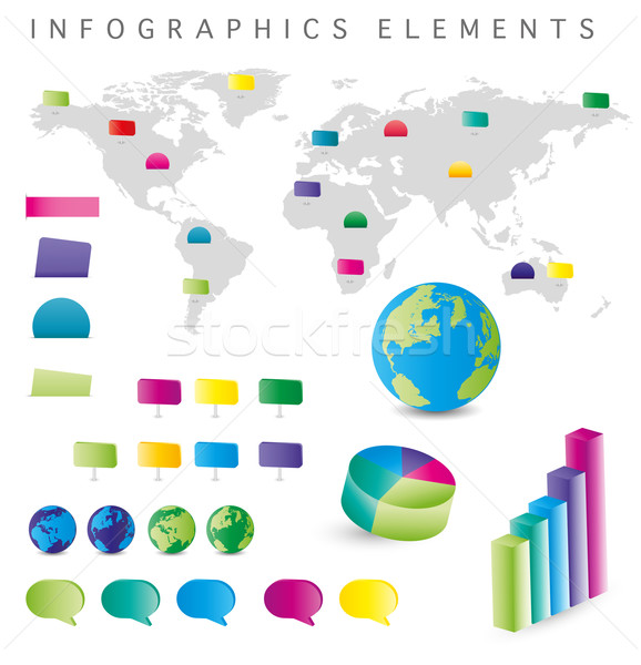 Infographics Elements Stock photo © jamdesign