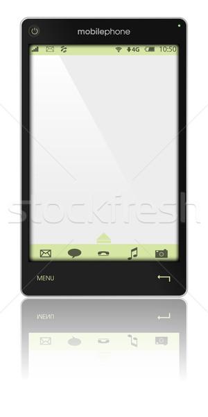 Telefonu komórkowego ilustracja odizolowany biały telefonu technologii Zdjęcia stock © jamdesign