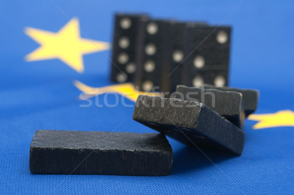 Stock photo: Domino Effect - Financial Crisis in Europe
