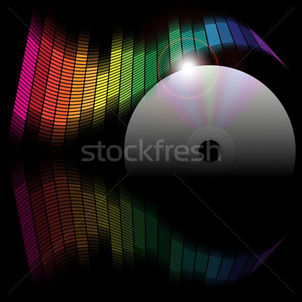 аннотация эквалайзер компакт-диск диска черный технологий Сток-фото © jamdesign