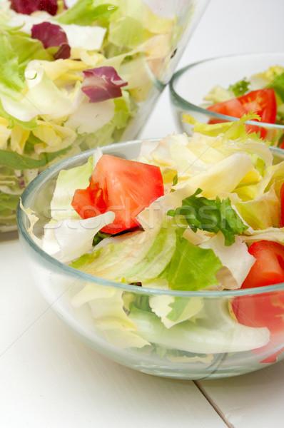 Frischem Gemüse Salat frischen grünen Gemüse Glas Stock foto © jamdesign