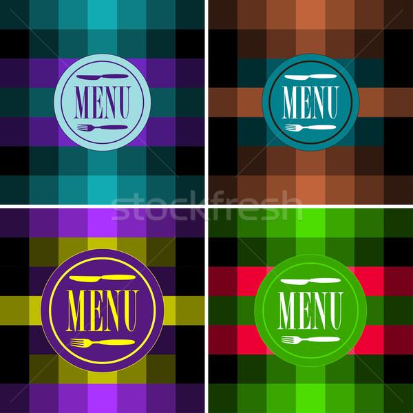 Menu Card Designs Stock photo © jamdesign